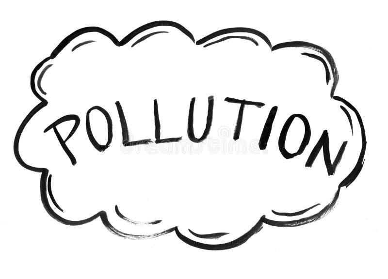 Dessin A L Encre Noire De Main De Nuage De Pollution Atmospherique Illustration Stock Illustration Du Atmospherique Encre 132857346
