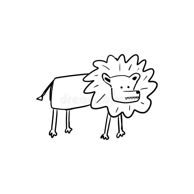 Dessin Eclair D Un Lion Animal Dessine A La Main Illustration De Vecteur Illustration Du Vecteur Retrait 159756064