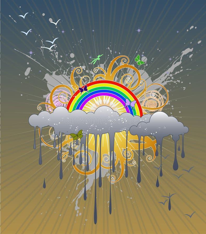 Dessin 2 d'arc-en-ciel illustration de vecteur ...