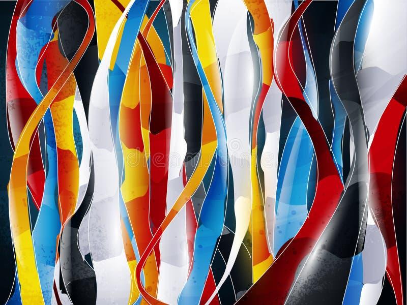 Dessin abstrait illustration de vecteur