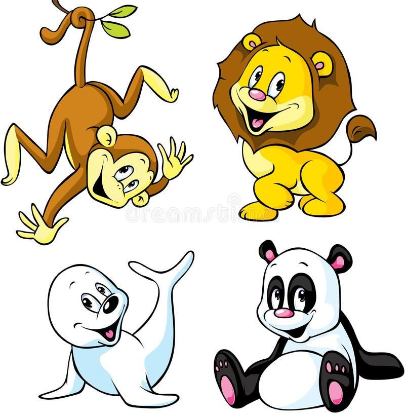 Dessin Anim 9 Mois: Dessin Animé Animal Mignon Illustration De Vecteur
