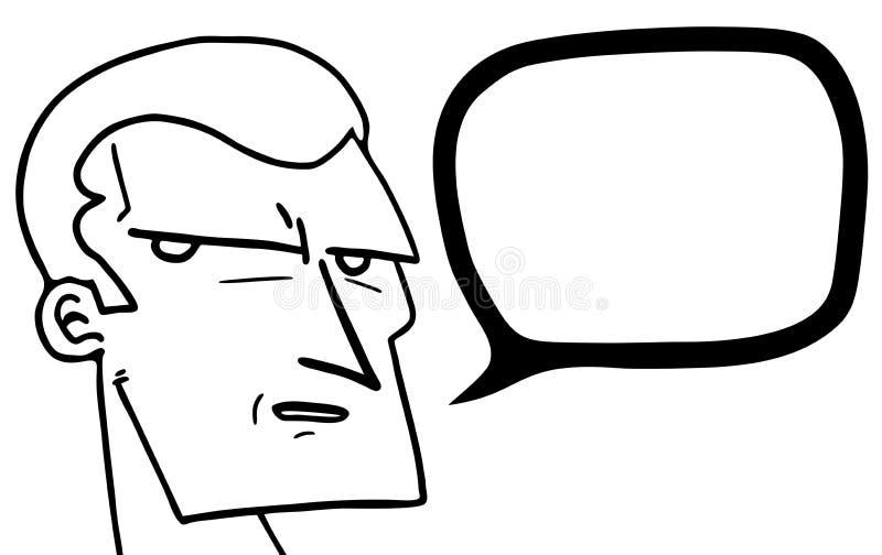 Dessin animé bavard illustration de vecteur