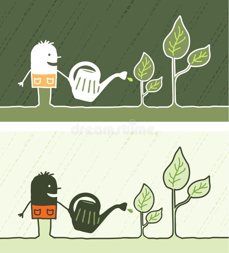 dessin anim color de jardinage illustration de vecteur illustration du vous noir 13513700. Black Bedroom Furniture Sets. Home Design Ideas