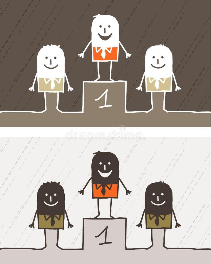 Dessin animé coloré du numéro un illustration de vecteur