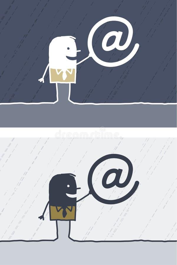 Dessin animé coloré par Internet illustration de vecteur