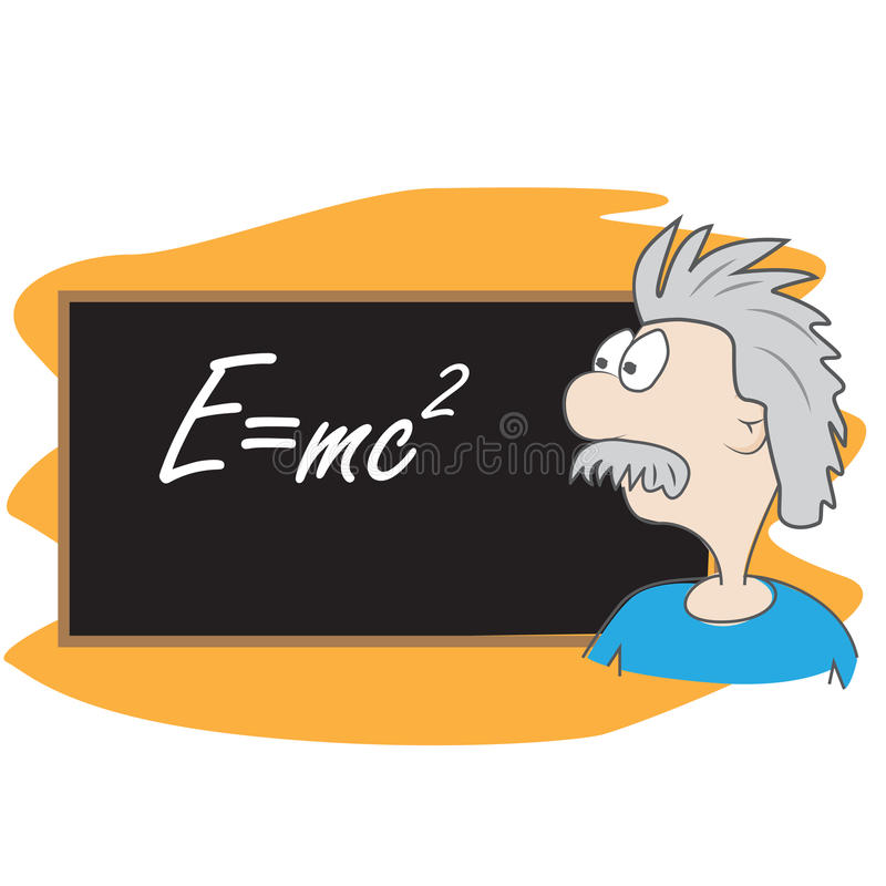 Dessin animé d'Albert Einstein illustration stock