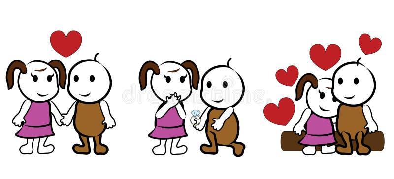 Dessin animé d'amoureux illustration de vecteur
