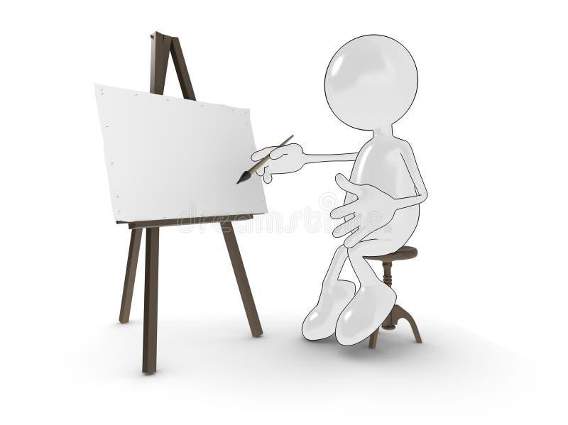 dessin animé d'artiste illustration de vecteur