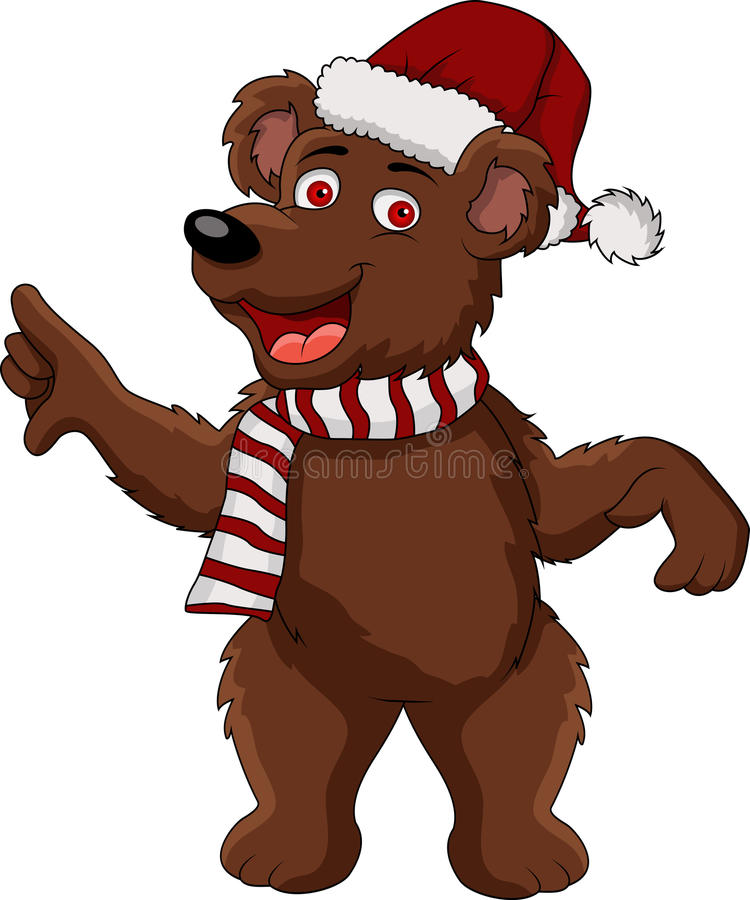 Dessin animé d'ours de Noël illustration de vecteur