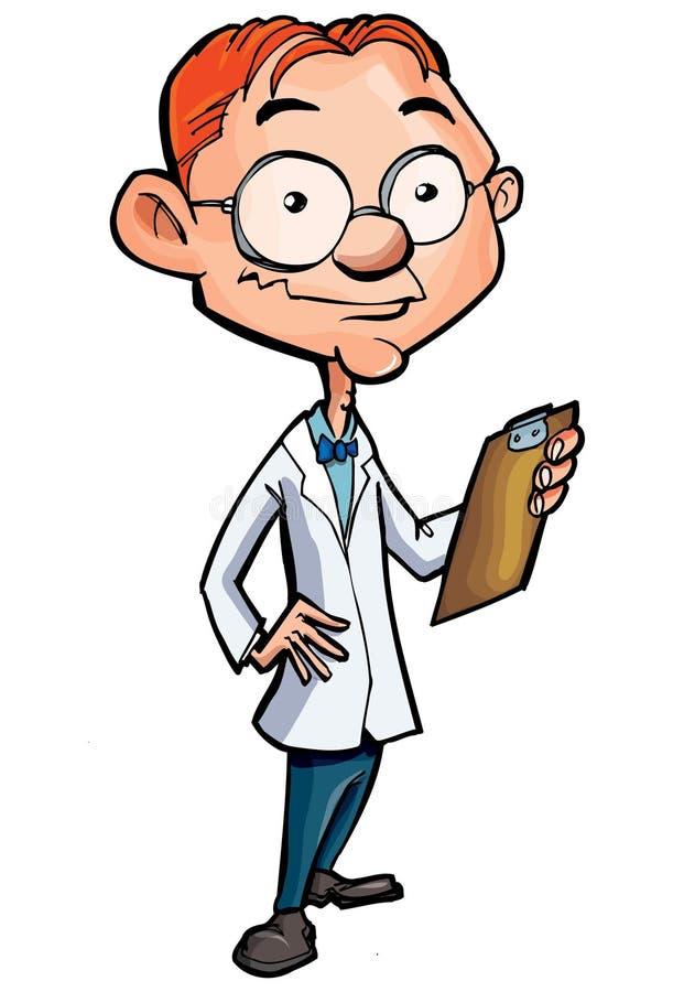 Dessin animé d'un docteur nerdy illustration de vecteur
