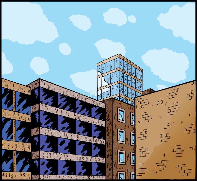 Dessin animé d'une ville illustration stock