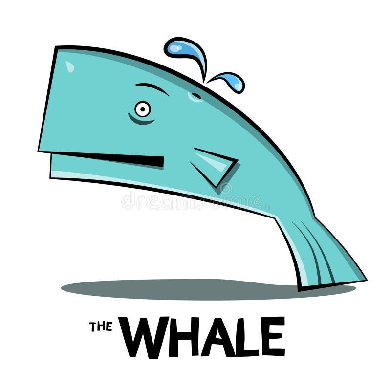 Dessin animé de baleine illustration stock