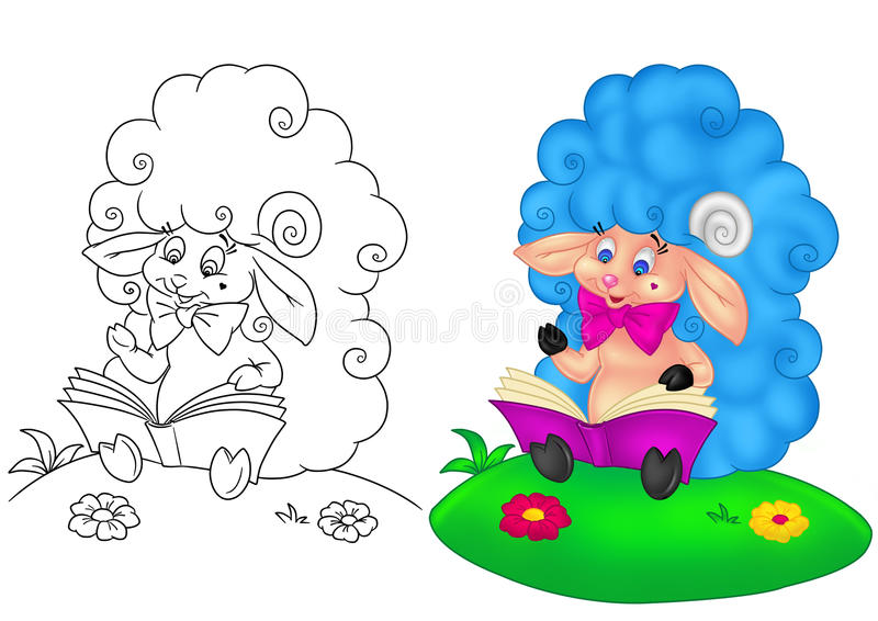 Dessin animé de chéri d'agneau illustration stock