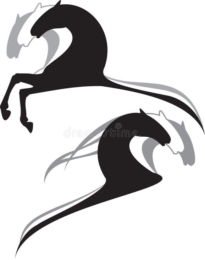 Dessin animé de chevaux illustration de vecteur