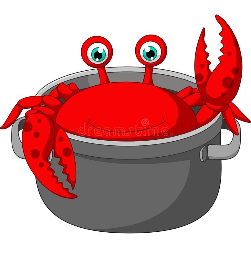 Dessin animé de crabe illustration libre de droits