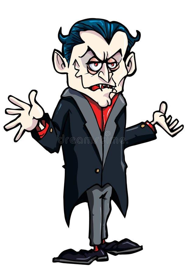 Dessin animé de Dracula de sourire illustration de vecteur