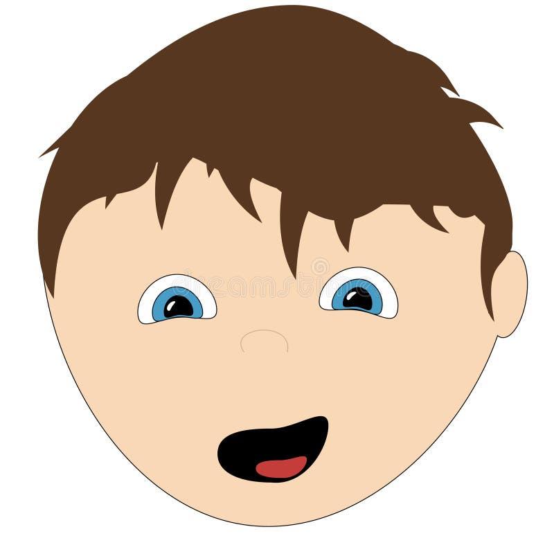 dessin animé de garçon heureux images libres de droits