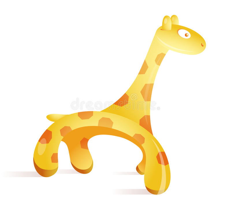 Dessin animé de giraffe illustration stock