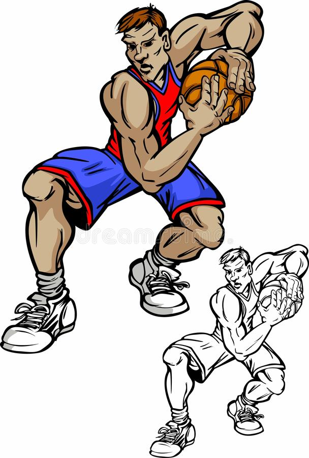 Dessin animé de joueur de basket illustration libre de droits