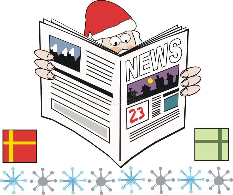 Dessin animé de journal de Noël illustration de vecteur