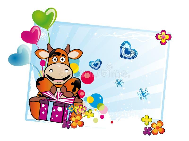 Dessin anim de joyeux anniversaire illustration de - Dessin cadeau anniversaire ...