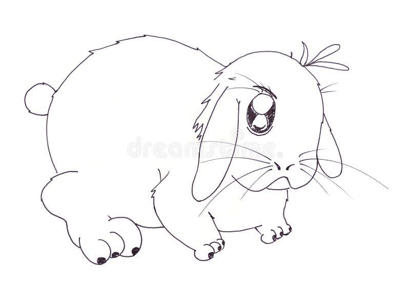 Dessin animé de lapin illustration stock