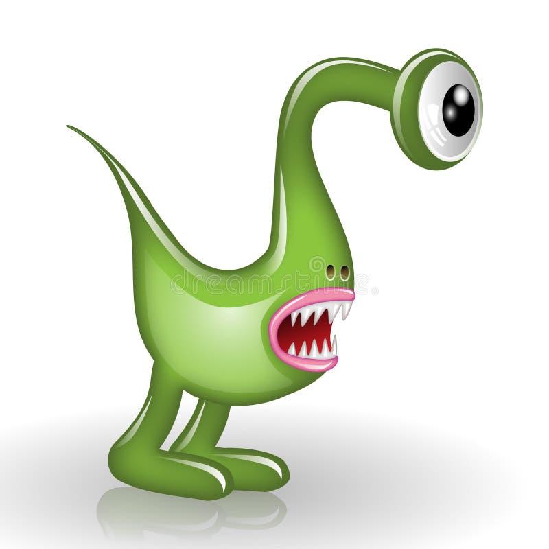 Dessin animé de monstre illustration de vecteur