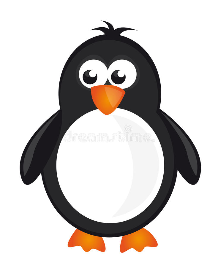 Dessin anim de pingouin illustration de vecteur - Dessin pinguoin ...