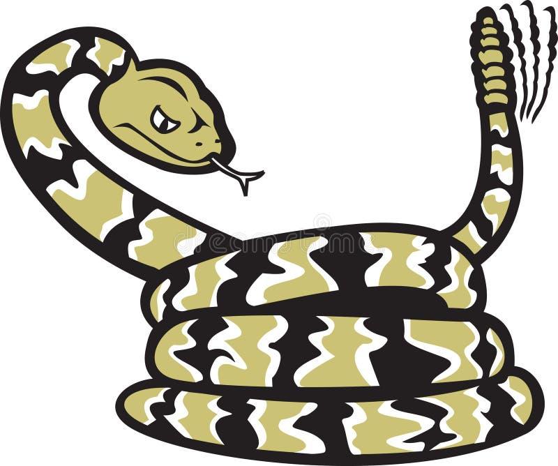 Dessin animé de serpent à sonnettes illustration stock