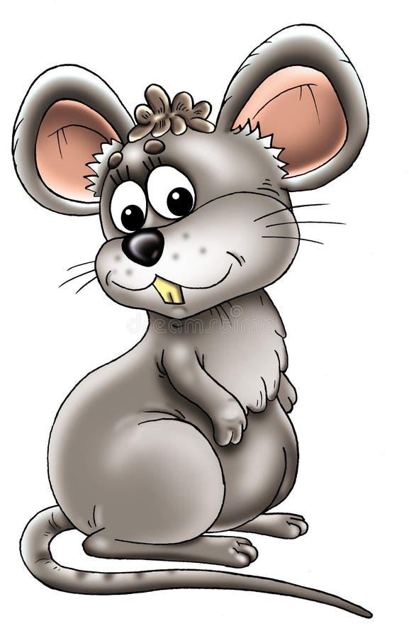 Dessin animé de souris grise illustration de vecteur