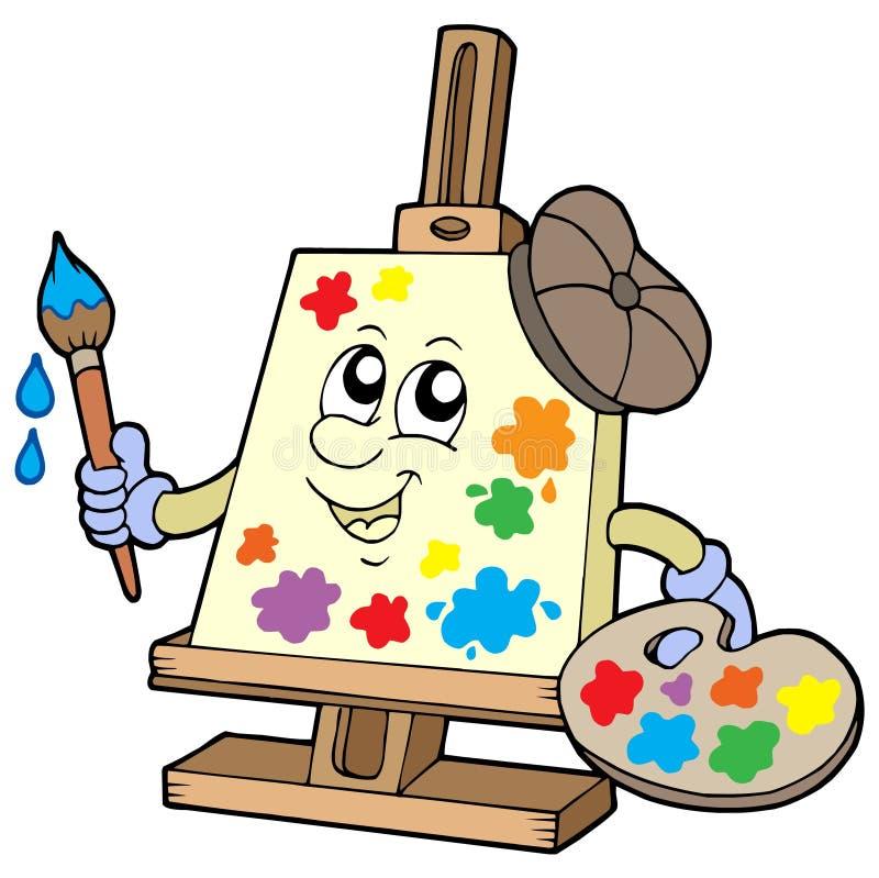dessin animé de toile d'artiste illustration de vecteur
