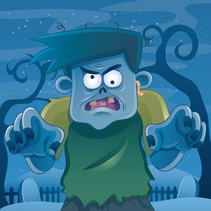 Dessin animé de zombi illustration stock