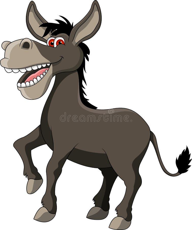 Dessin animé drôle d'âne illustration stock