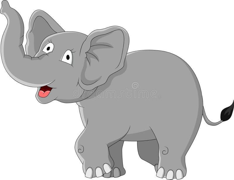 Dessin Animé Drôle D éléphant Photo libre de droits