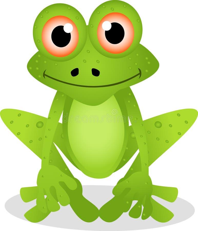 Dessin animé drôle de grenouille illustration libre de droits