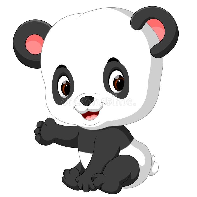 Dessin animé drôle de panda illustration libre de droits