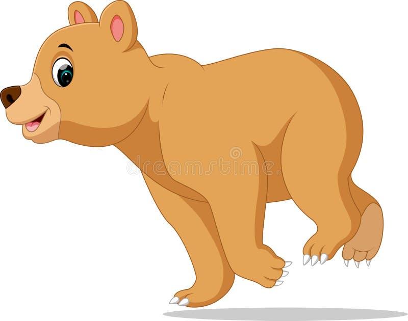 Dessin animé drôle d'ours illustration libre de droits