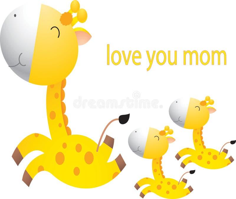 Dessin animé drôle de giraffe illustration stock