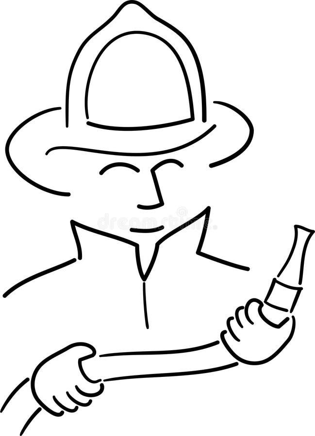 Dessin animé Fireman/ai illustration libre de droits