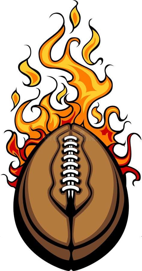 Dessin animé flamboyant de bille de football américain illustration libre de droits
