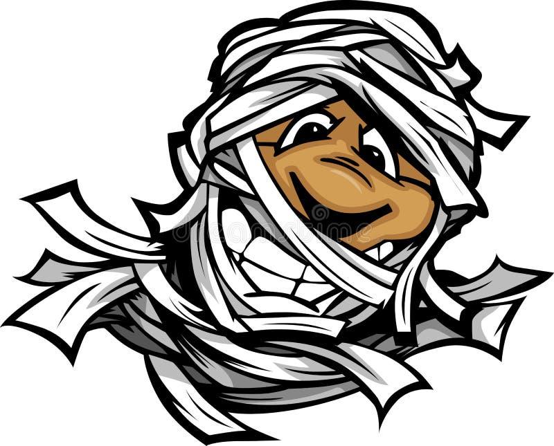 Dessin animé heureux de chef de monstre de Veille de la toussaint de momie illustration stock