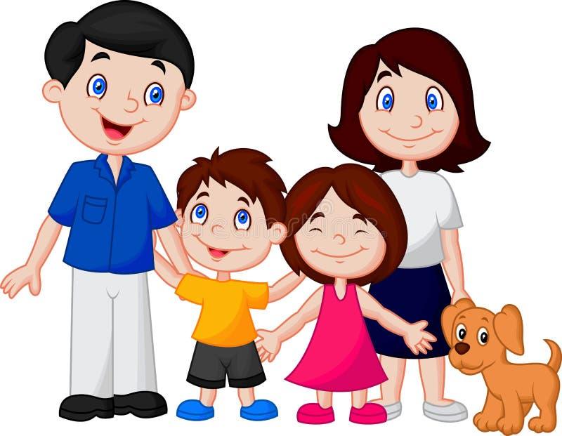 Dessin animé heureux de famille illustration libre de droits