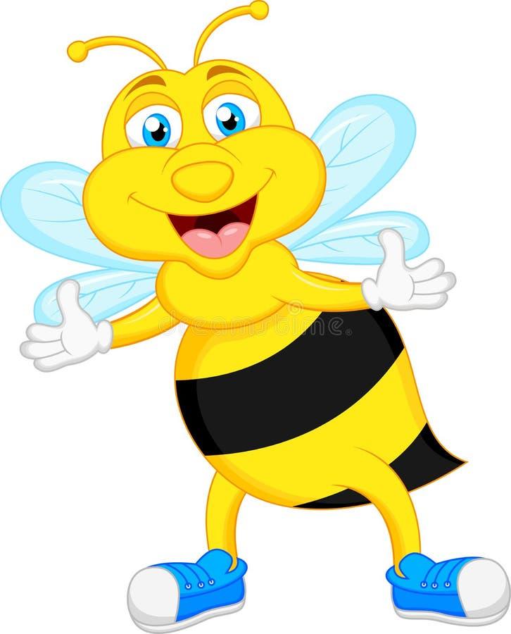 Dessin animé mignon d'abeille illustration stock