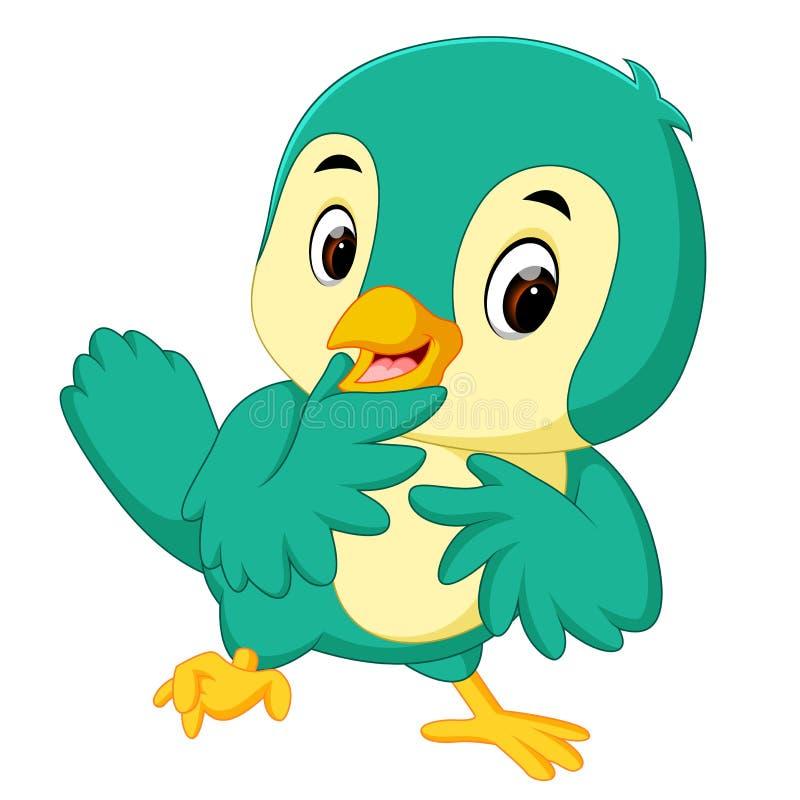 Dessin animé mignon d'oiseau illustration de vecteur