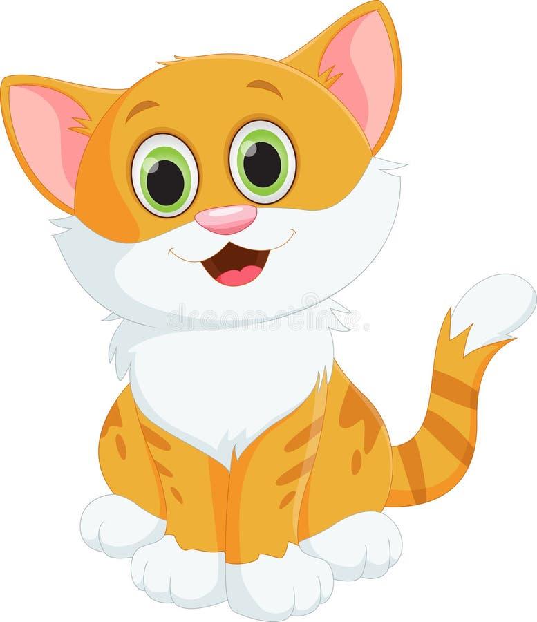 Dessin animé mignon de chat illustration libre de droits