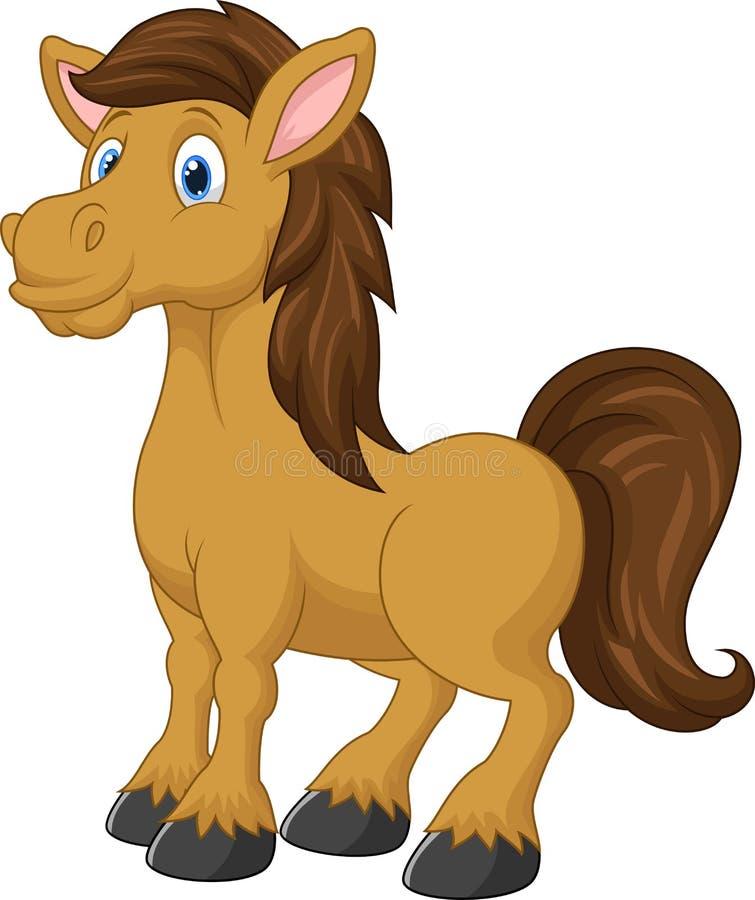 Dessin animé mignon de cheval illustration libre de droits