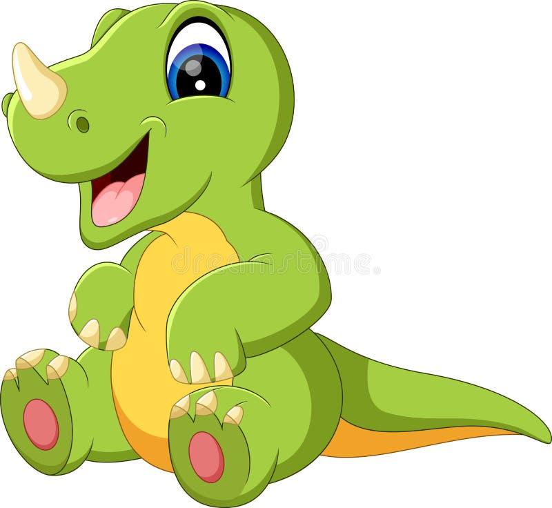 Dessin animé mignon de dinosaur illustration stock