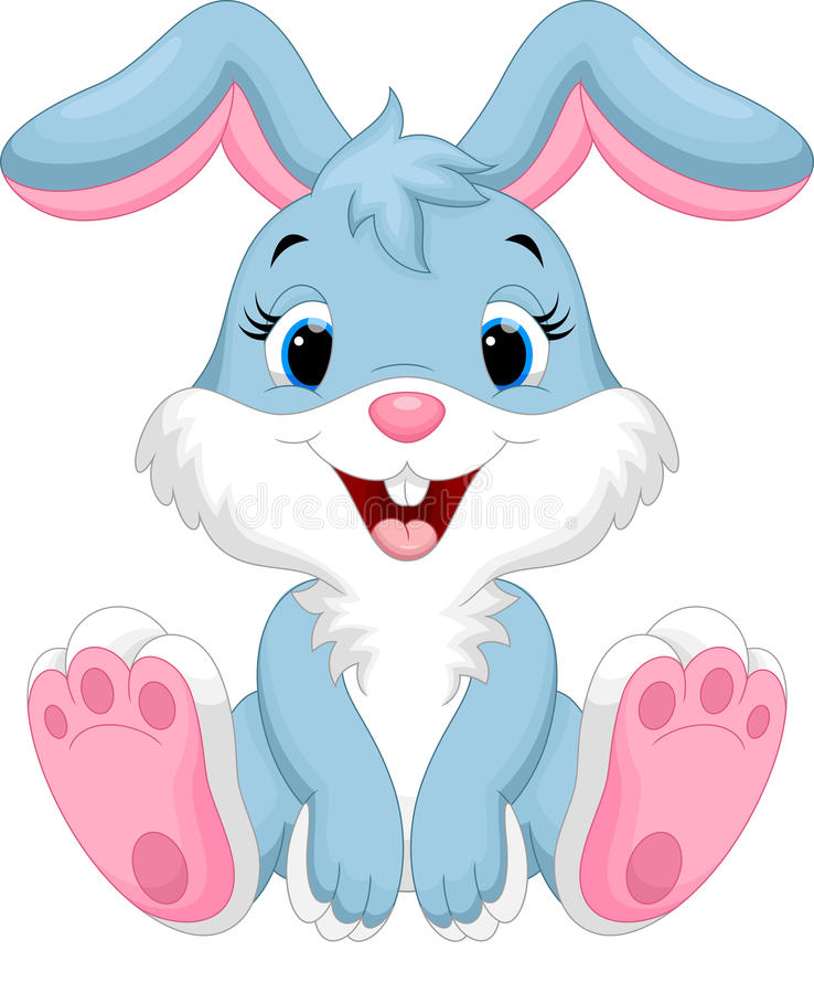 Dessin animé mignon de lapin illustration de vecteur