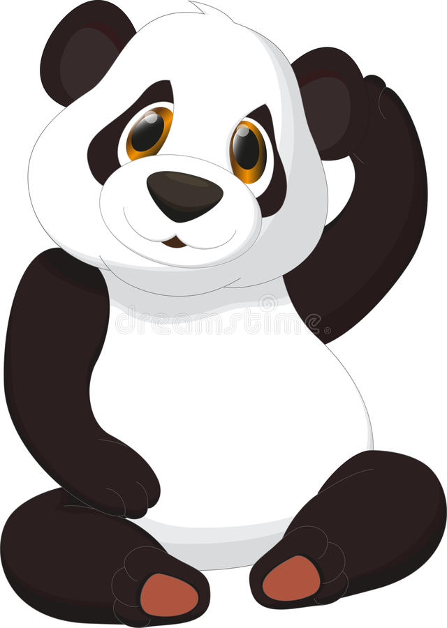 Dessin animé mignon de panda illustration libre de droits