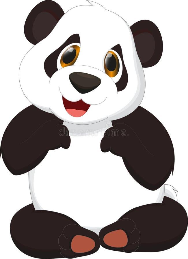 dessin anim mignon de panda illustration de vecteur illustration du panda amusement 55136643. Black Bedroom Furniture Sets. Home Design Ideas